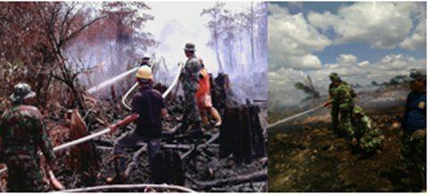 Kodam VI/Mlw Tanggap Terhadap Titik Api Yang Terjadi Di Wilayah Kutai Timur