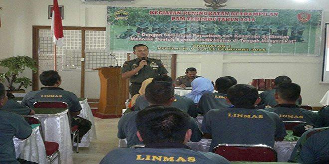 Dandim 0709/Kebumen, Bekali Peningkatan Keterampilan Linmas se Provinsi Jateng