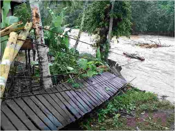 Luapan Sungai Musi Mengakibatkan Banjir