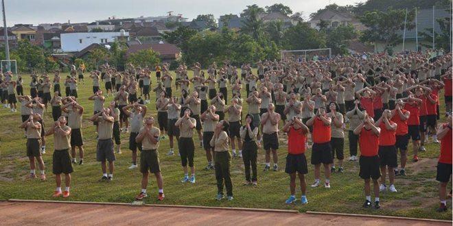 1.400 Prajurit Dan PNS Kodam II/Swj Olahraga Bersama