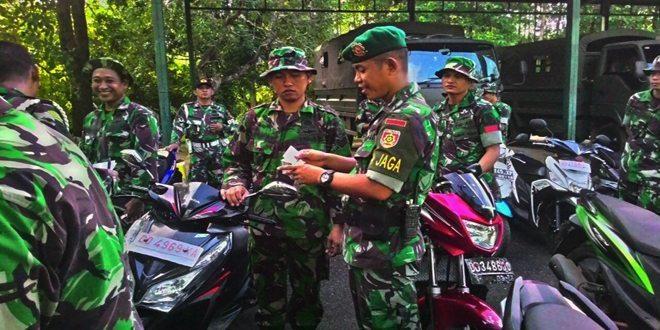 Batalyon Infanteri Lintas Udara 433/JS Kostrad Tegakkan Disiplin Berkendara Prajurit