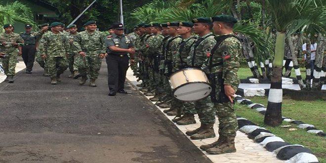 Kunjungan Kerja Komandan Pusat Misi Pemeliharaan Perdamaian TNI ke Yonif Linud 433/JS Kostrad