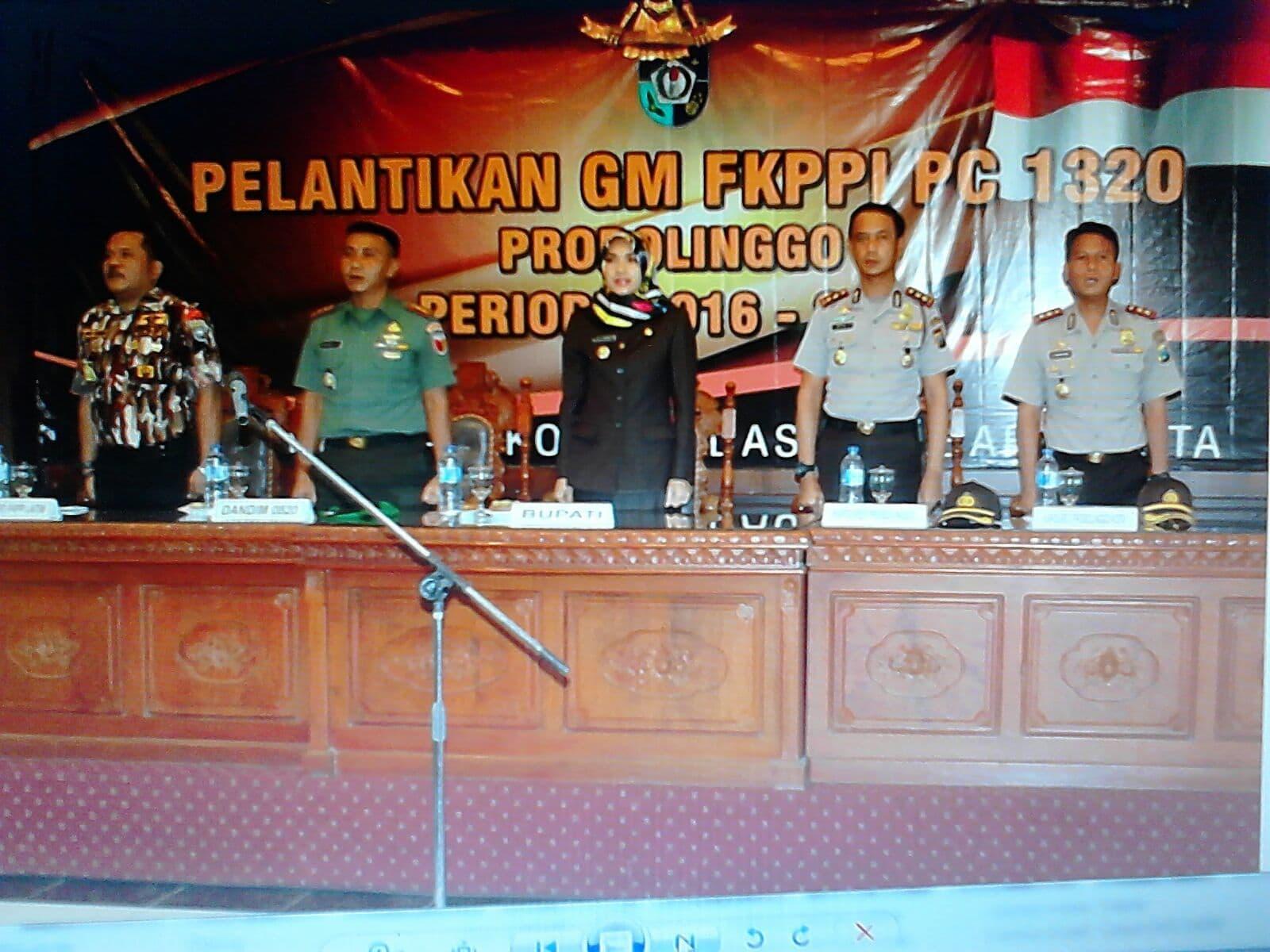 Dandim 0820 Hadiri Pelantikan Pengcab GM FKKPI 1320/Probolinggo