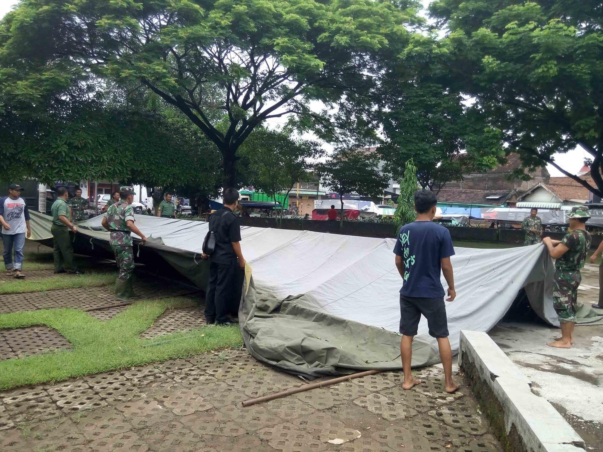 Antisipasi Banjir Bandang, Kodim Jombang Dirikan Posko