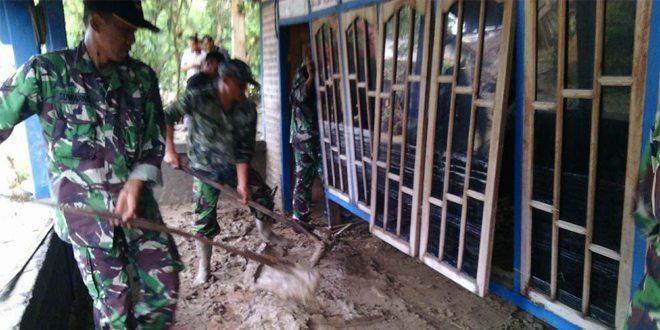 Upaya Pos Ramil 0813/04 Temayang dalam Mengatasi Banjir Diwilayahnya