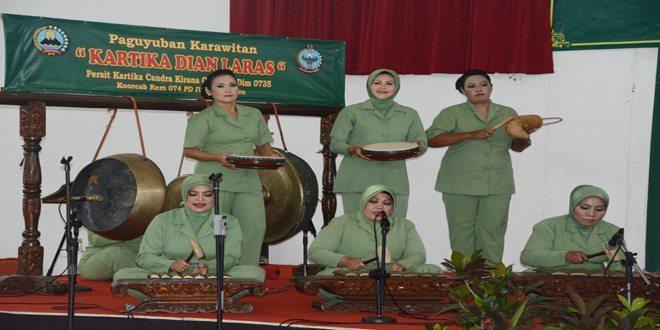 Lomba Musik Tetabuhan Daerah Persit KCK Koorcab Rem 074 PD IV/Dip