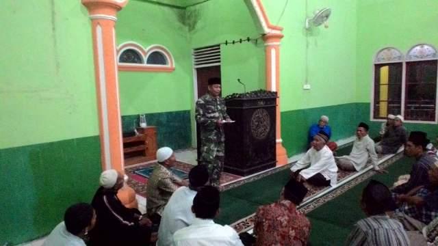 Babinsa Koramil 08/Kuantan Mudik Ingatkan Toleransi Beragama