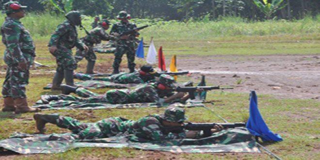 Danpusdikkes Kodiklat TNI AD Tinjau Latihan Hirbak Pratama Diktukba TNI AD Tahap I