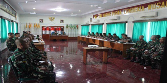 Pusdikkes Laksanakan Sidang Wanhatdik Bagi Basis Diktukba TNI AD Tahap I Ta. 2016