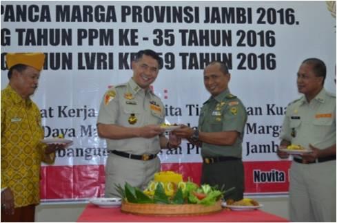 Kasrem 042/gapu Membuka Rakerda Pemuda Panca Marga Tahun 2016