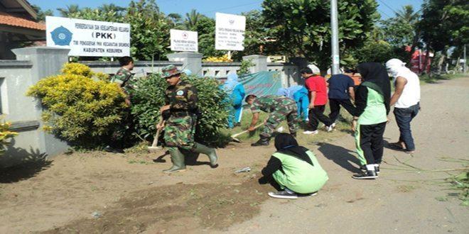 Koramil 06/Sruweng Lakukan Giat Bersih Lingkungan