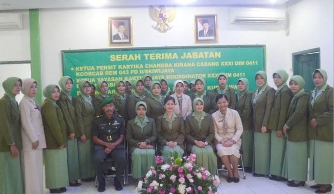 Jabatan Ketua Persit KCK Cabang XXXI Kodim 0411/Lamteng Diserah Terimakan
