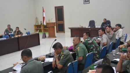 Korem 043/gatam Gelar Rakor Rencana Pengamanan Kunjungan Kerja Ri 2 Di Provinsi Lampung