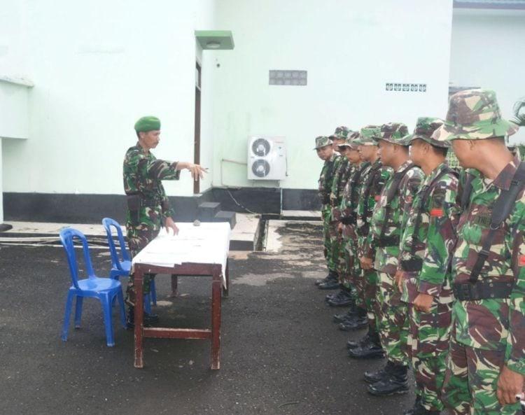 Prajurit Korem 043/gatam Melaksanakan Latihan Perorangan Dasar