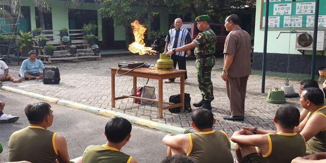 Kodim 0830/Surabaya Gelar Sosialisasi Penanganan Kebocoran Gas Elpiji