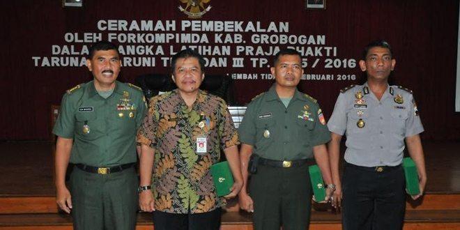 Forkompimda Kab. Grobogan Datangi Taruna/Taruni Akademi Militer Magelang