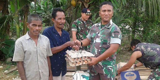 Kodim 0103/Aceh Utara Bantu Korban Banjir