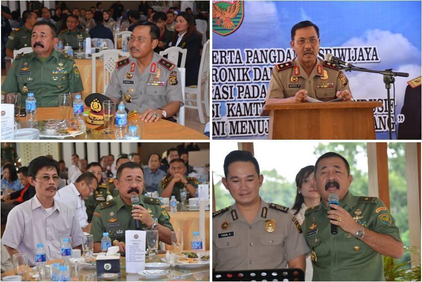 Silaturahmi Kapolda Dan Pangdam II/Swj Dengan Media Massa
