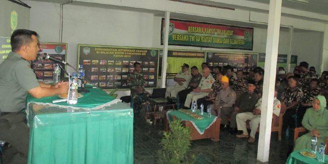 Kodim Komsos Dengan Keluarga Besar TNI