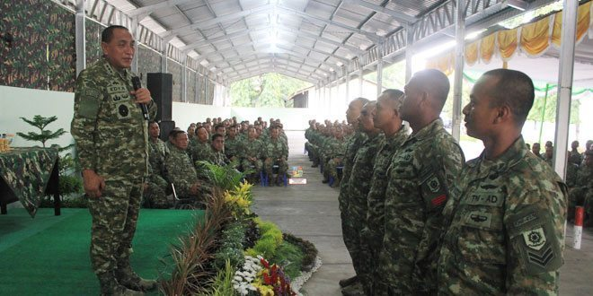 Pangkostrad Kunjungi Batalyon Infanteri 412 Raider Kostrad