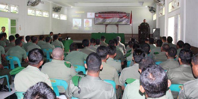 Kodim 0102/Pidie Sosialisasikan Netralitas TNI pada Pemilu