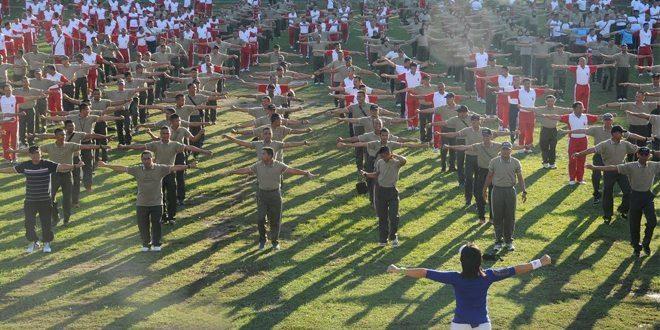 Olahraga Bersama, TNI-Polri Bersatu Menjaga Keutuhan NKRI