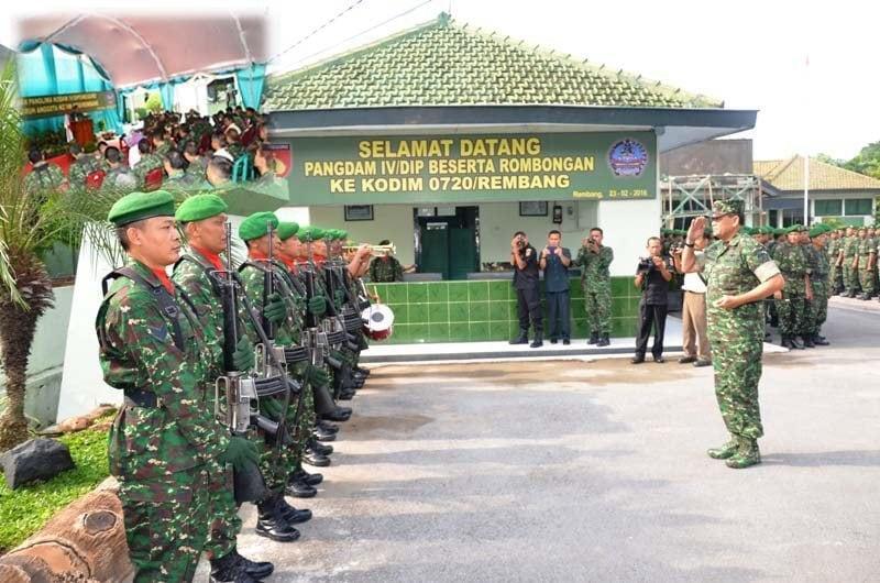 Pangdam IV /Diponegoro Kunjungi Kodim Rembang