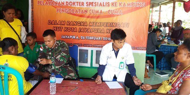 Pengobatan Masal Dalam Rangka Memperingati HUT Kota Jayapura Ke-106