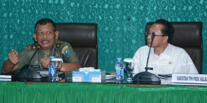 Kodam XII/Tpr Percepat Pelaksanaan Kegiatan Cetak Sawah Di Kalbar