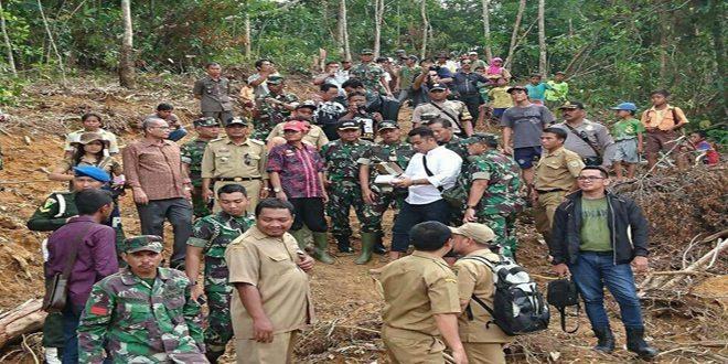 Kasdam Tinjau Lokasi Cetak Sawah di Kab. Sanggau