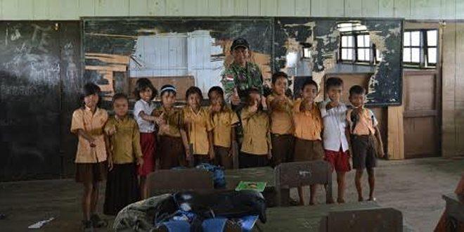 Program Anak Asuh Perangi Buta Aksara di Peperbatasan RI-PNG