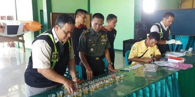 Cegah Penggunaan Narkoba, Kodim 0813 Bojonegoro Lakukan Tes Urin Secara Acak
