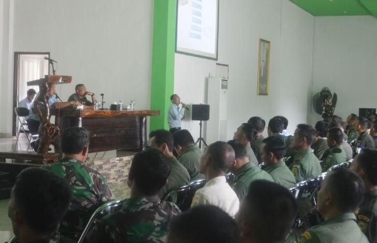Prajurit Dan PNS Korem 043/Gatam Menerima Sosialisasi SPT Pajak Tahunan On-Line