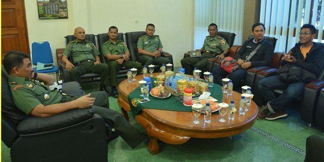 Komandan Korem 081/DSJ Terima Kunjungan Pimpinan Radar Madiun