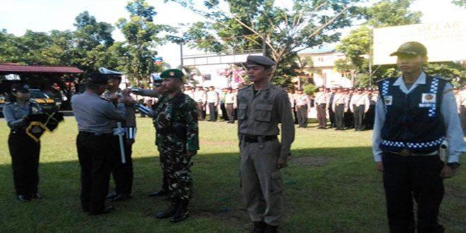 Anggota Kodim 1006/Mtp Mengikuti Gelar Pasukan Di Polres Banjar