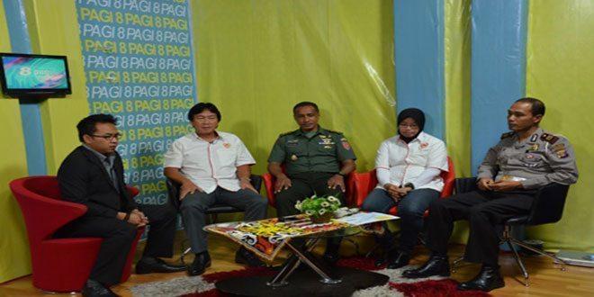 Aspers Kasdam VI/Mlw Dan Ketua Koni Talk Show DI BTV