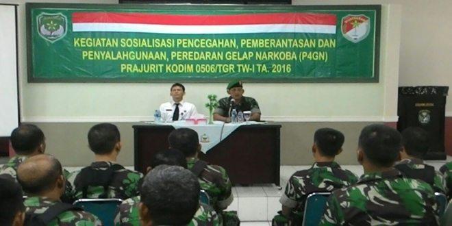 Personel Kodim 0506/Tgr Terima Penyuluhan P4GN dari BNNK Kota Tangerang Selatan