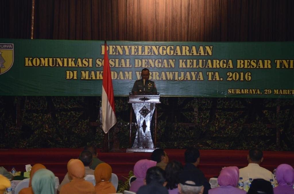 Kodam V/brawijaya Adakan Silahturahmi Dengan Keluarga Besar TNI Se- Jatim