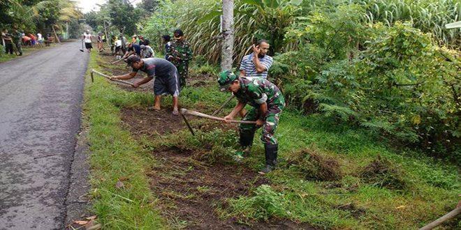 Koramil 0809/09 Kandat Dukung Lomba Desa Tingkat Kecamatan Kandat