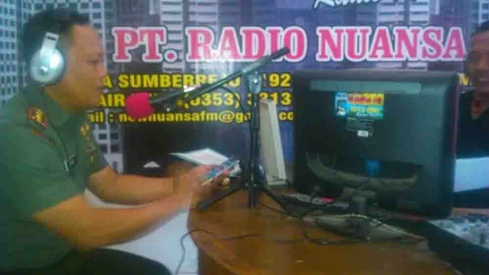 Dandim Bojonegoro adakan Talk Show di 104,5 MHZ Radio Nuansa FM