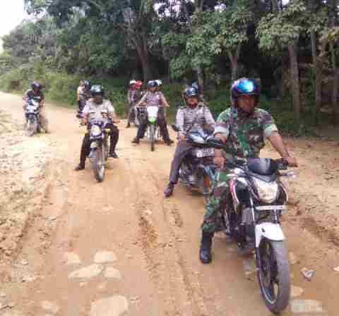 Antisipasi Karlahut, Koramil 04/Mandau Gelar Patroli di Desa Tasik Serai