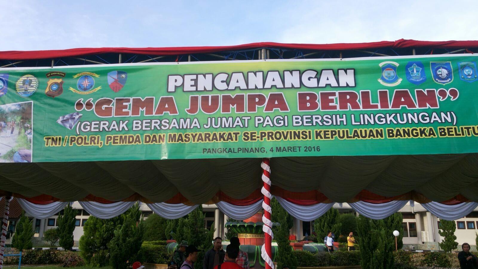 Gong Gema Berlian Resmi Ditabuh Di Bangka Belitung