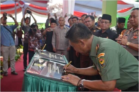 Pangdam II/Sriwijaya Resmikan Kantor Denpom II/2 Jambi