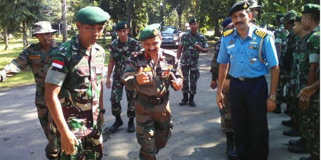 Kunjungan Komandan Brigade Dogra Ke Daerah Latihan Garuda Sakti