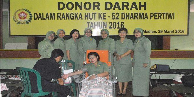 Darah Segar Persit Rem 081 Untuk Kemanusiaan