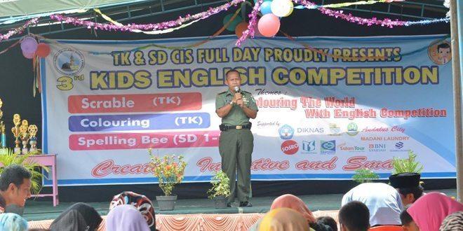 Kasrem 063/Sgj Membuka Kids English Competition