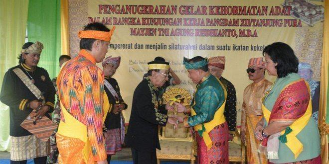 Pangdam XII/Tpr Bergelar Pangeran Senopati Arya Wiratama