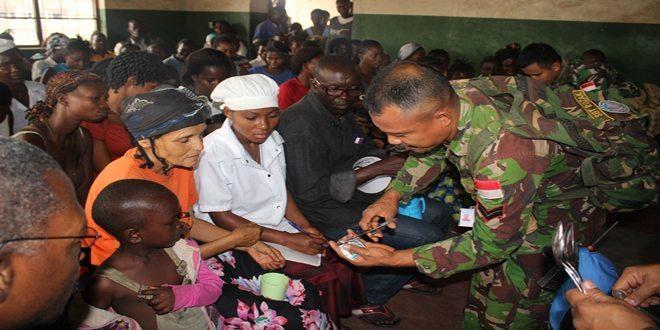 Kontingen Garuda XX-M di Kongo Bantu Kesehatan Masyarakat Lokal