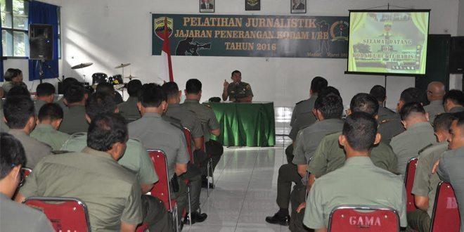 Kapendam I/BB Buka Pelatihan Junarlistik Jajaran Penerangan Kodam I/BB TA 2016