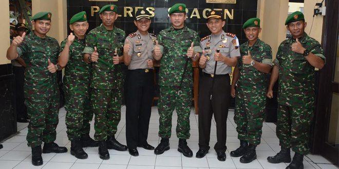 Wujudkan Kekompakan TNI-Polri Danrem 074/Warastratama Kunjungi Polres Sragen